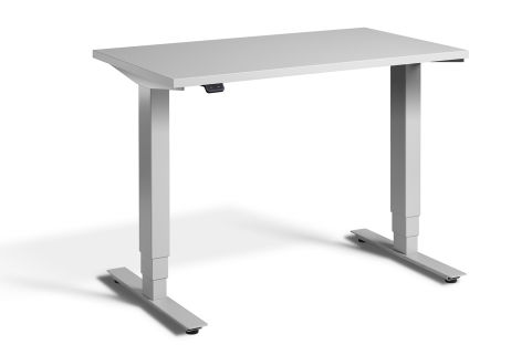 Rapid Mini Height Adjustable Desk Silver Frame - Grey Top