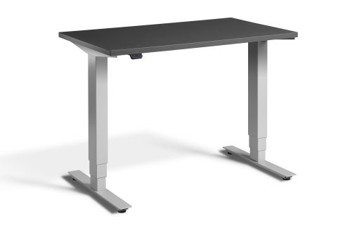 Rapid Mini Height Adjustable Desk Silver Frame - Graphite Top