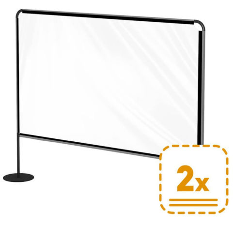 Large Outdoor Inbetween Screens In Use Pack Of 2 - Office Reality