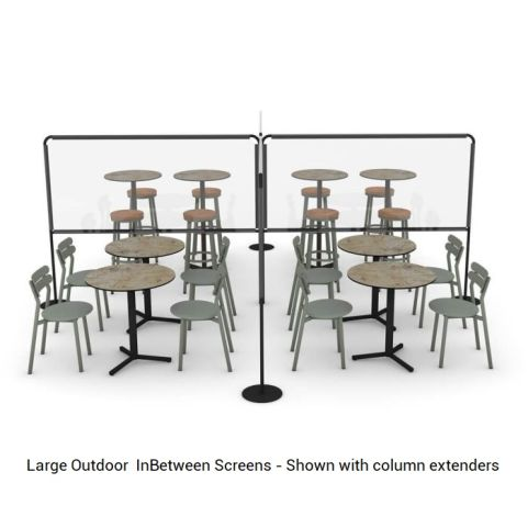 Large Outdoor Inbetween Screens In Use Outside - Office Reality - Column Extenders