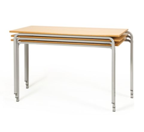 Crush Bent Classroom Tables Stacked