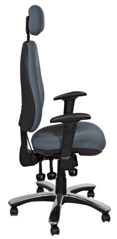 KInetic V2 Chair Side Profile Shown With A Chrome Base Option