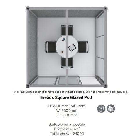 Erebus Square Glazed Pod 3000mm X 3000mm