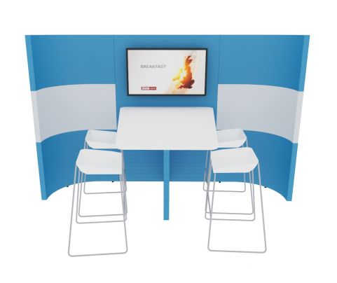MU1 Suka Media Pod Poseur Heigt Table Front View No Floor
