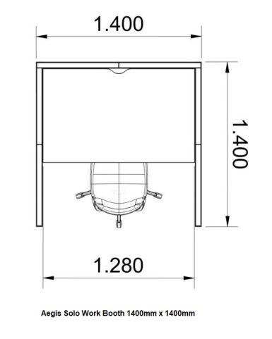 Aegis Solo Pod Large Dimensions 1400mm X 1400mm