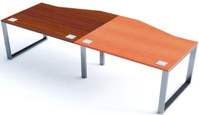 Side By Side Wave Desks Sliding Top