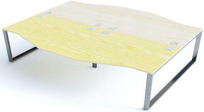 4 Person Wave Desks