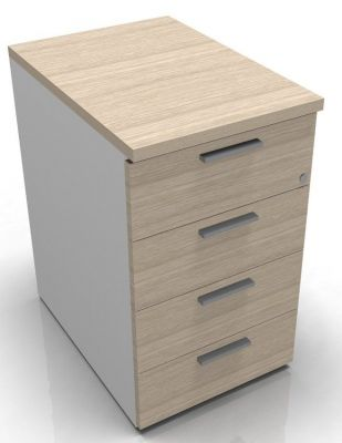 4 Drawer Desk Height Pedestal