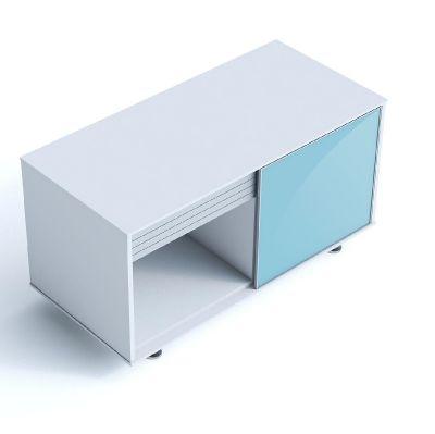 Block 20 Executive Storage Cupboard With Sliding Glass Door