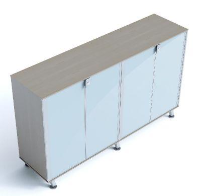 Block 30 Glass Four Door Executive Cupboard