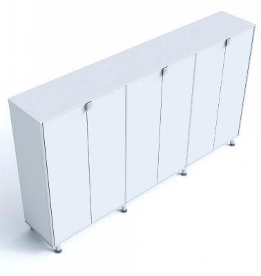 Block Six Door Executive Cupboard