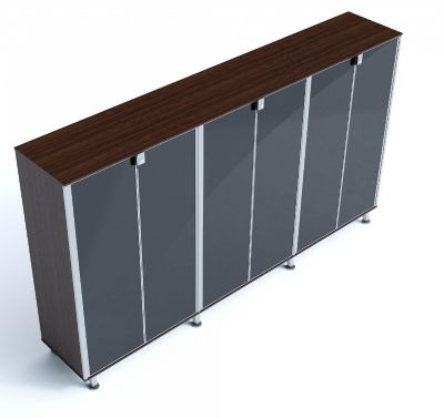 Block Six Glass Door Executive Cupboard