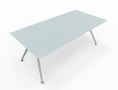 Arkitek Large Rectangular Glass Desk / Table