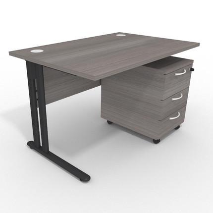 Optimize Rectangular Desk and Pedestal Bundle