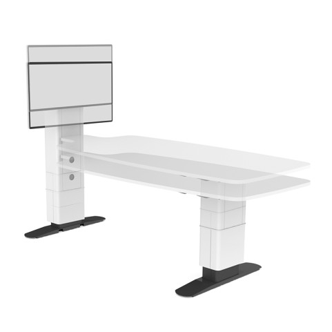 Unite Fully Height Adjustable Multimedia Conference Table